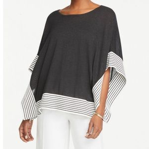 Ann Taylor Factory Tipped Poncho